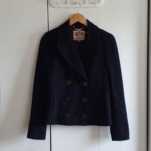 Juicy Couture wool coat peacoat jacket